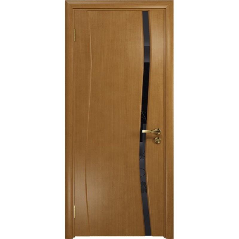 Межкомнатная Дверь DioDoor Грация-1 анегри черный триплекс Вьюнок глянцевый