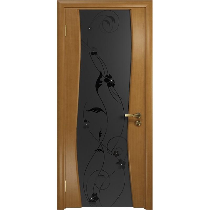 Межкомнатная Дверь DioDoor Грация-3 анегри черный триплекс Вьюнок матовый