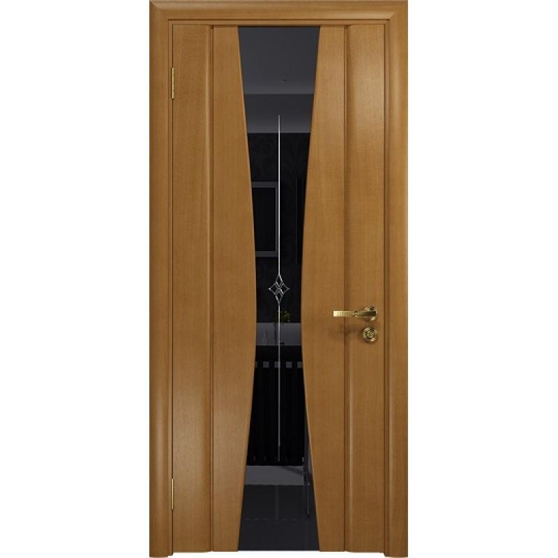 Межкомнатная Дверь DioDoor Соната-2 анегри черный триплекс гравировка Звезда