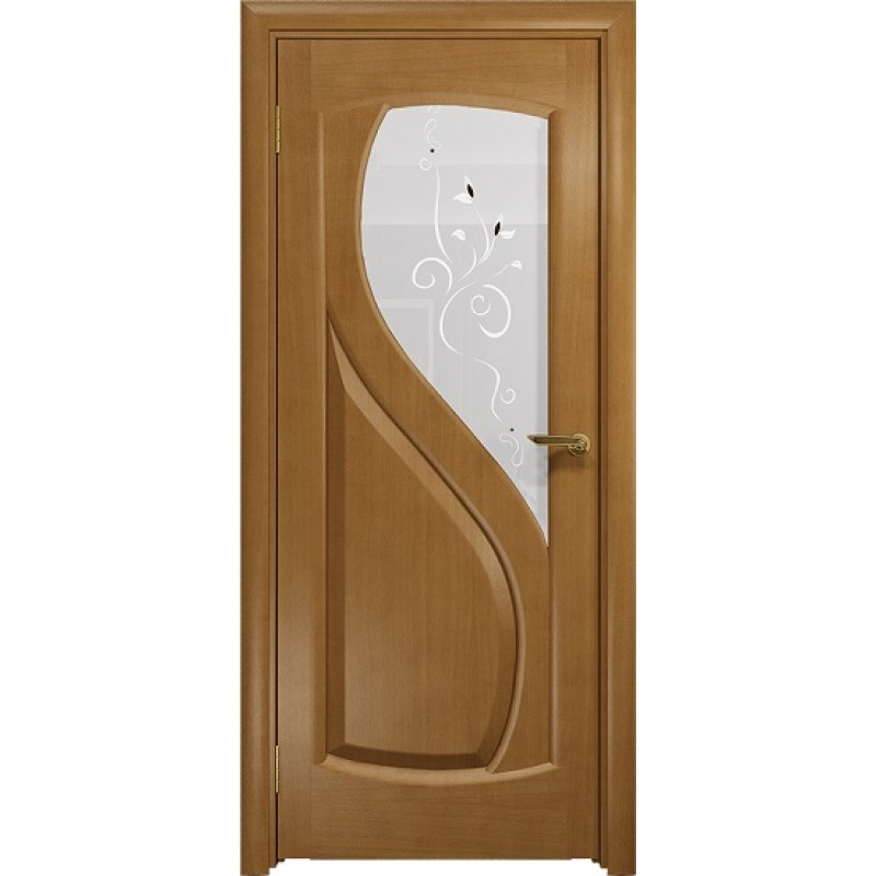Межкомнатная Дверь DioDoor Диона-1 анегри белое пескоструйное Лилия