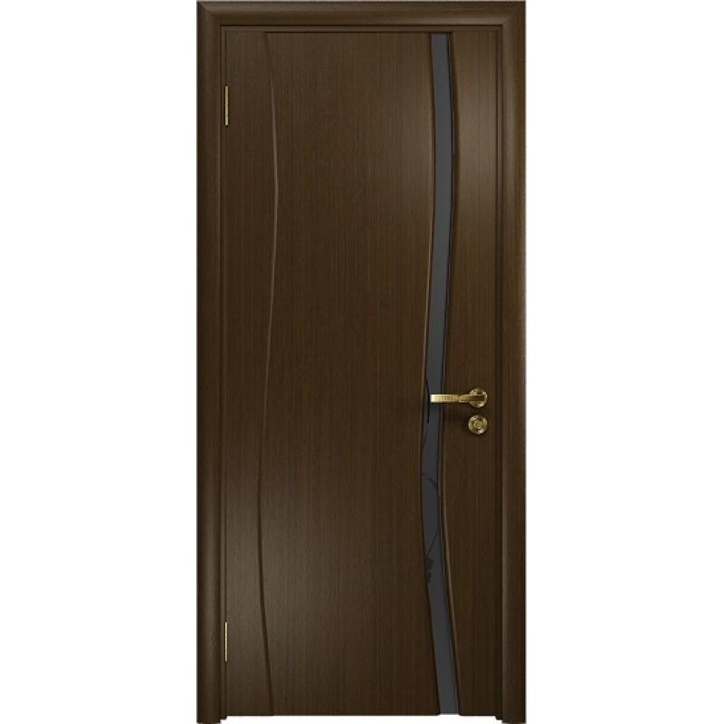 Межкомнатная Дверь DioDoor Грация-1 венге черный триплекс Вьюнок матовый