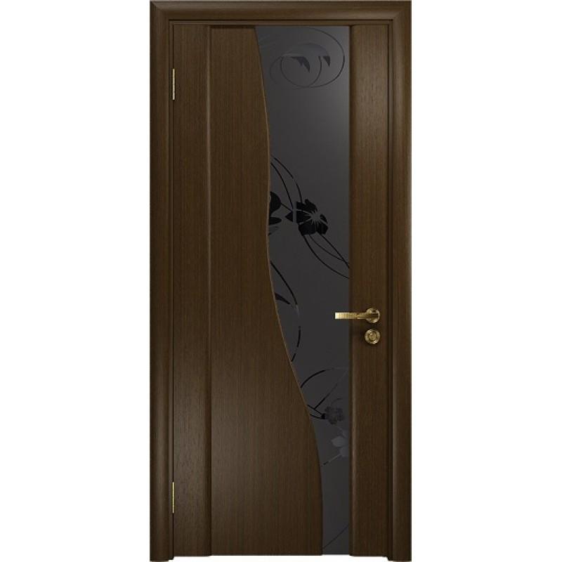 Межкомнатная Дверь DioDoor Торелло венге черный триплекс Вьюнок матовый