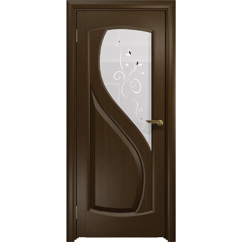 Межкомнатная Дверь DioDoor Диона-1 венге белое пескоструйное Лилия