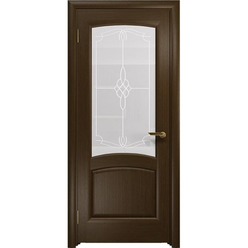 Межкомнатная Дверь DioDoor Ровере венге белое пескоструйное Корено