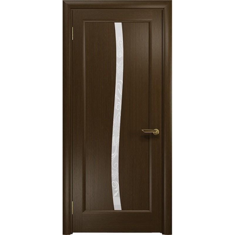 Межкомнатная Дверь DioDoor Миланика-3 венге белое пескоструйное Миланика