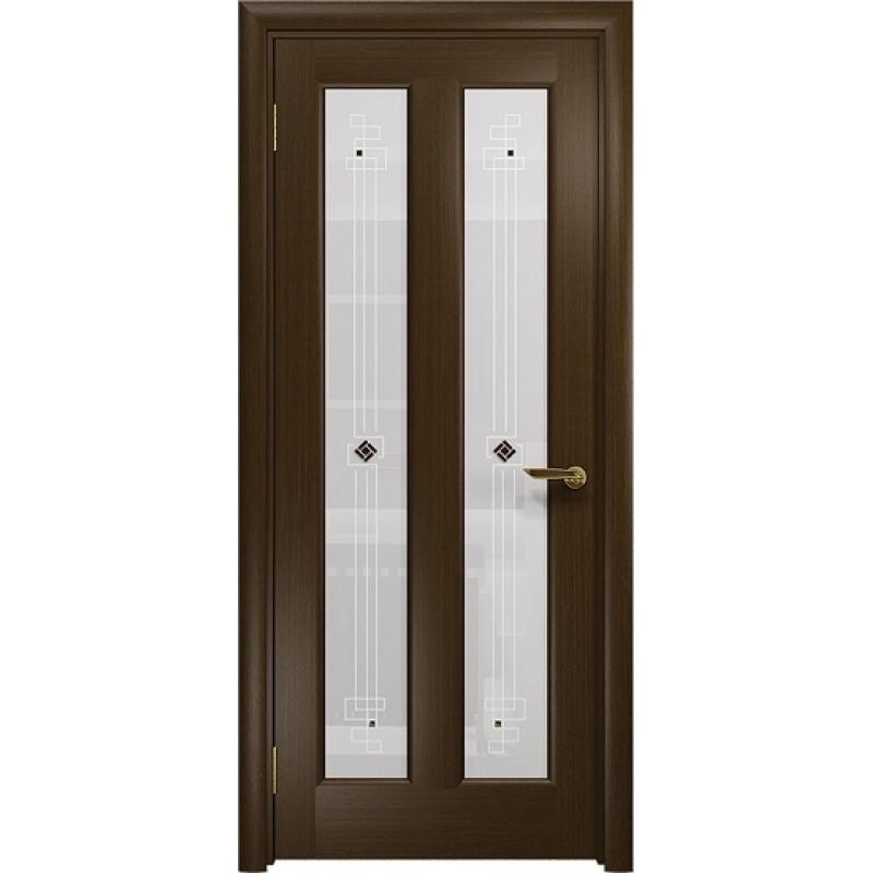 Межкомнатная Дверь DioDoor Тесей венге белое пескоструйное Ромб