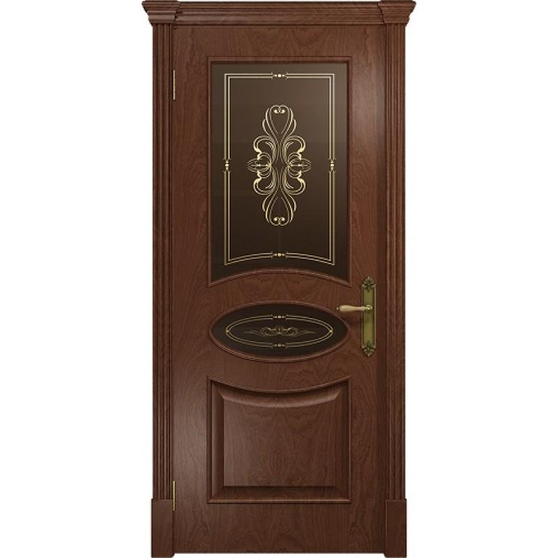 Межкомнатная Дверь DioDoor Санремо красное дерево бронзовое пескоструйное Вдохновение