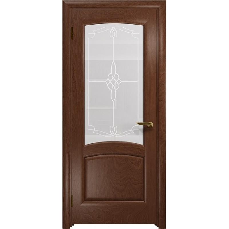 Межкомнатная Дверь DioDoor Ровере красное дерево белое пескоструйное Корено