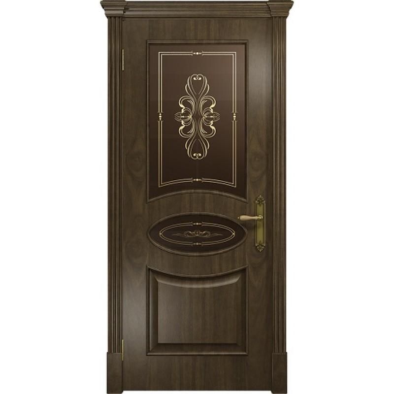 Межкомнатная Дверь DioDoor Санремо американский орех бронзовое пескоструйное Вдохновение