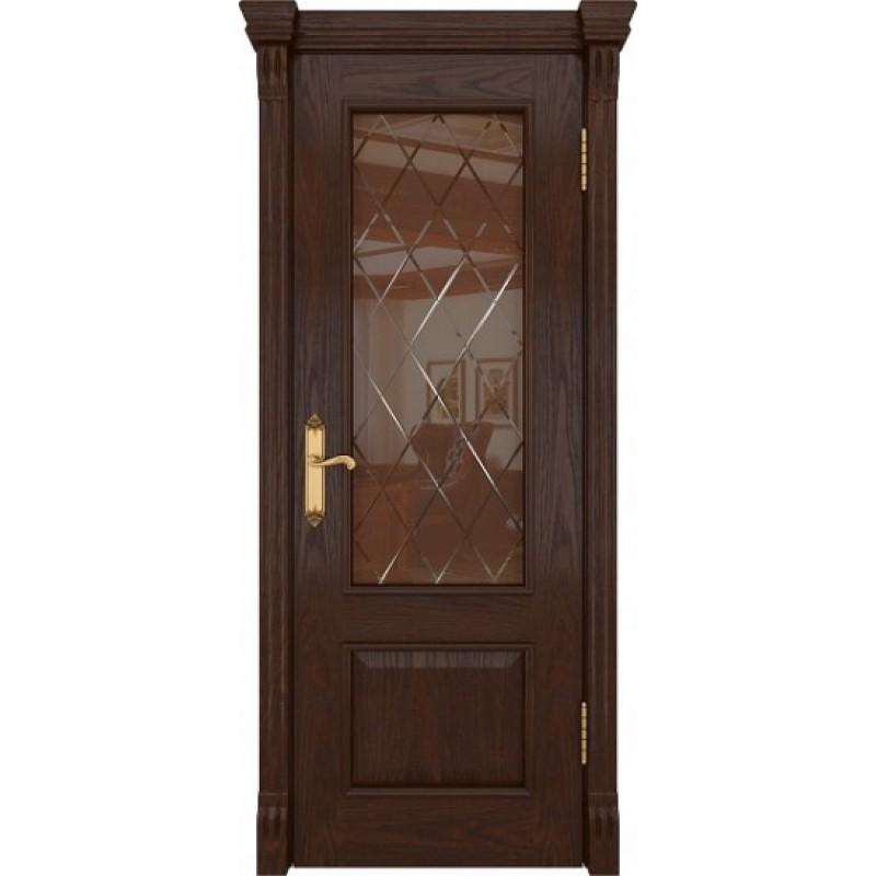 Межкомнатная Дверь DioDoor Цезарь-1 дуб коньячный стекло