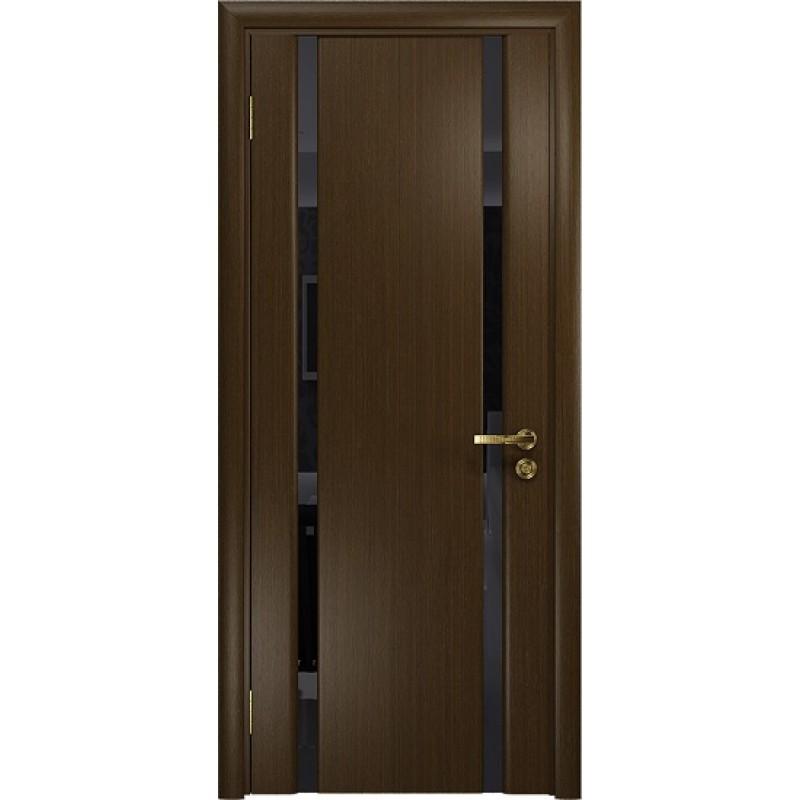 Межкомнатная Дверь DioDoor Триумф-2 венге чёрный триплекс