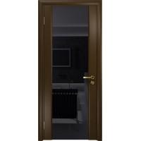 Дверь DioDoor Триумф-3 венге чёрный триплекс