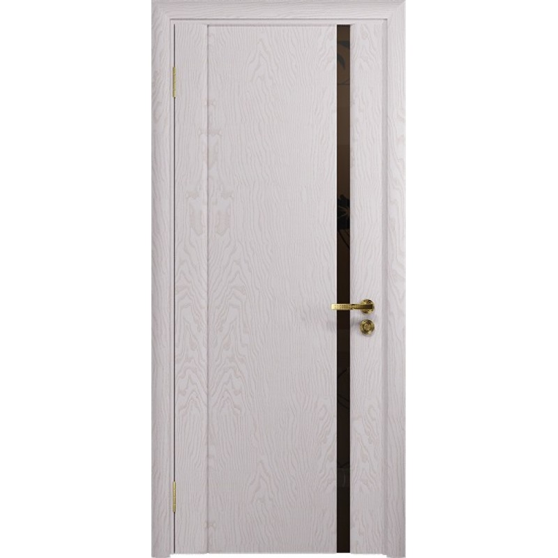Межкомнатная Дверь DioDoor Триумф-1 ясень белый черный триплекс