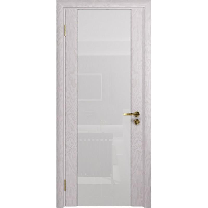 Межкомнатная Дверь DioDoor Триумф-3 ясень белый ярко белое стекло