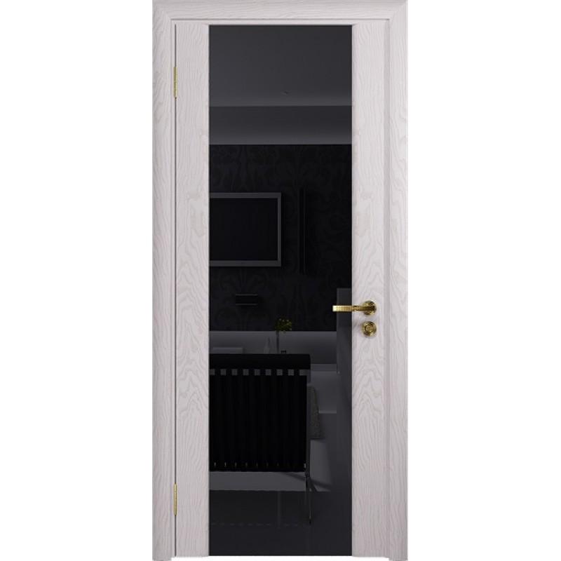 Межкомнатная Дверь DioDoor Триумф-3 ясень белый черный триплекс