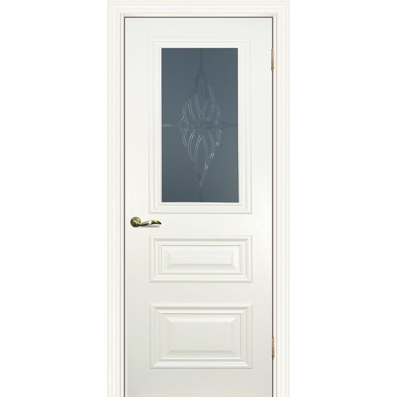 Межкомнатная Дверь МариаМ Классик-2 Магнолия стекло
