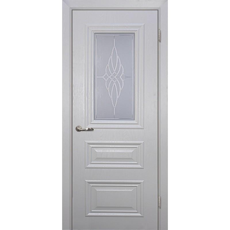 Межкомнатная Дверь МариаМ Классик-2 Лунное дерево стекло