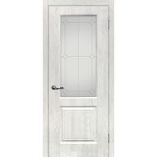Дверь МариаМ Версаль-1 Дуб жемчужный стекло контур серебро