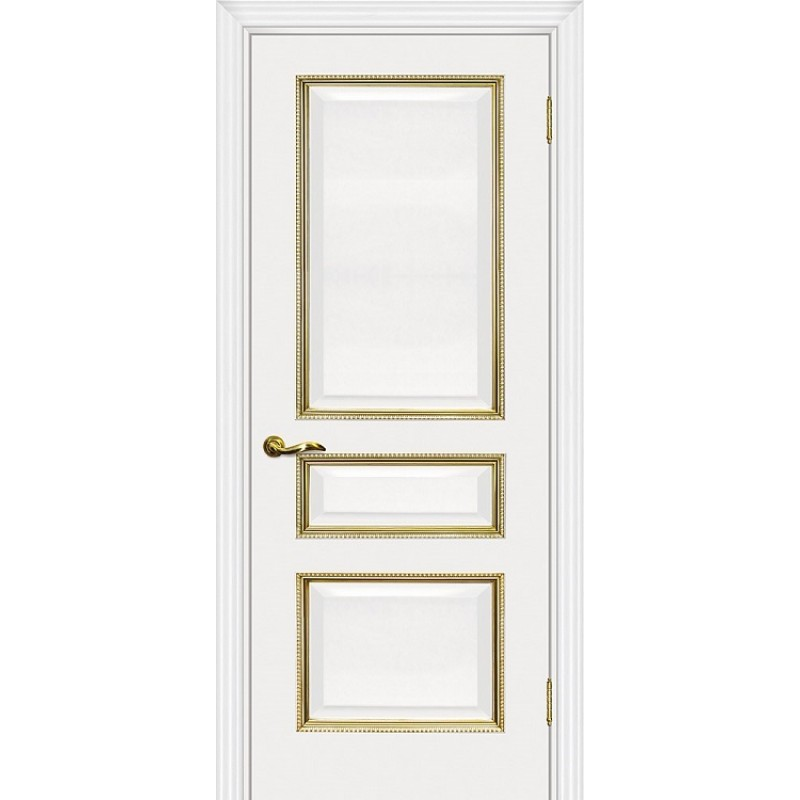 Межкомнатная Дверь МариаМ Мурано-2 Белый патина золото