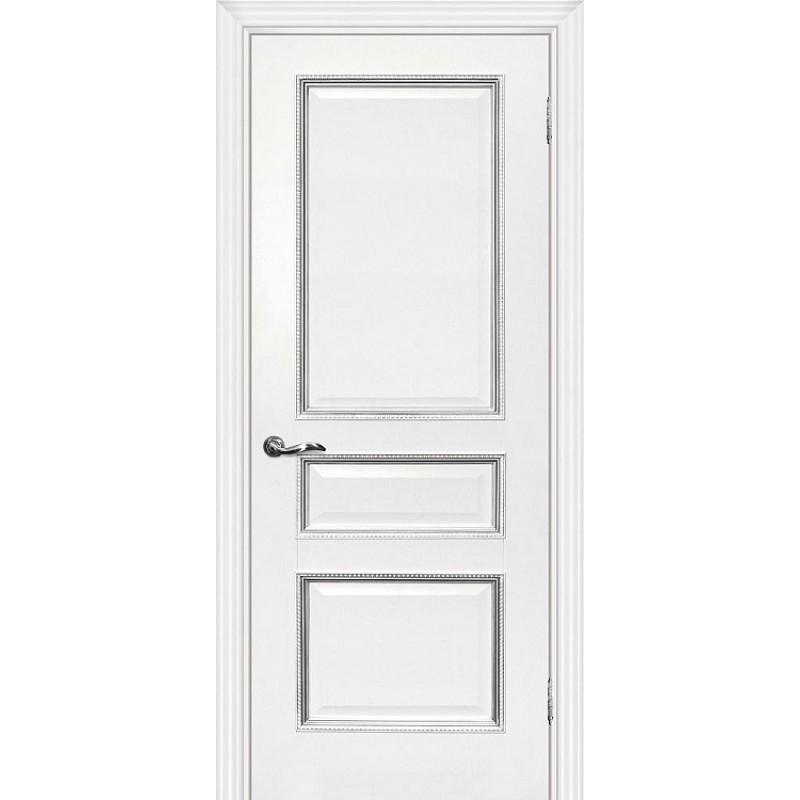 Межкомнатная Дверь МариаМ Мурано-2 Белый патина серебро