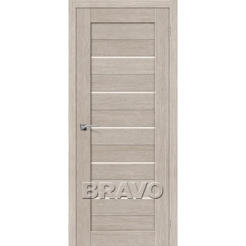 Межкомнатная Межкомнатые двери Экошпон Порта-22 3D цвет капуччино