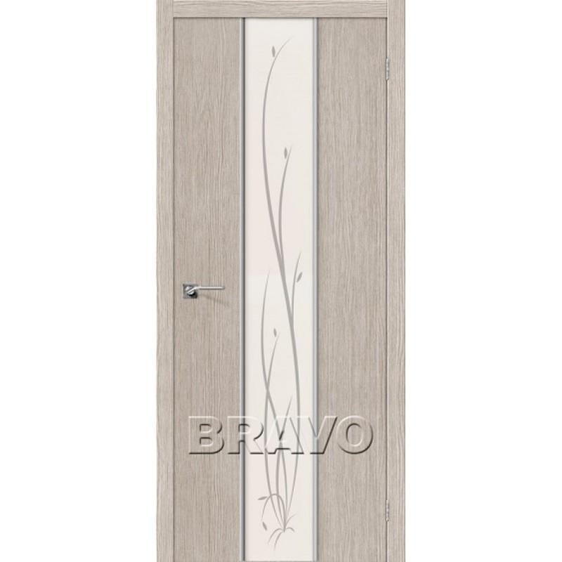 Межкомнатная Дверь Экошпон Глейс-2 Twig 3D Cappuccino
