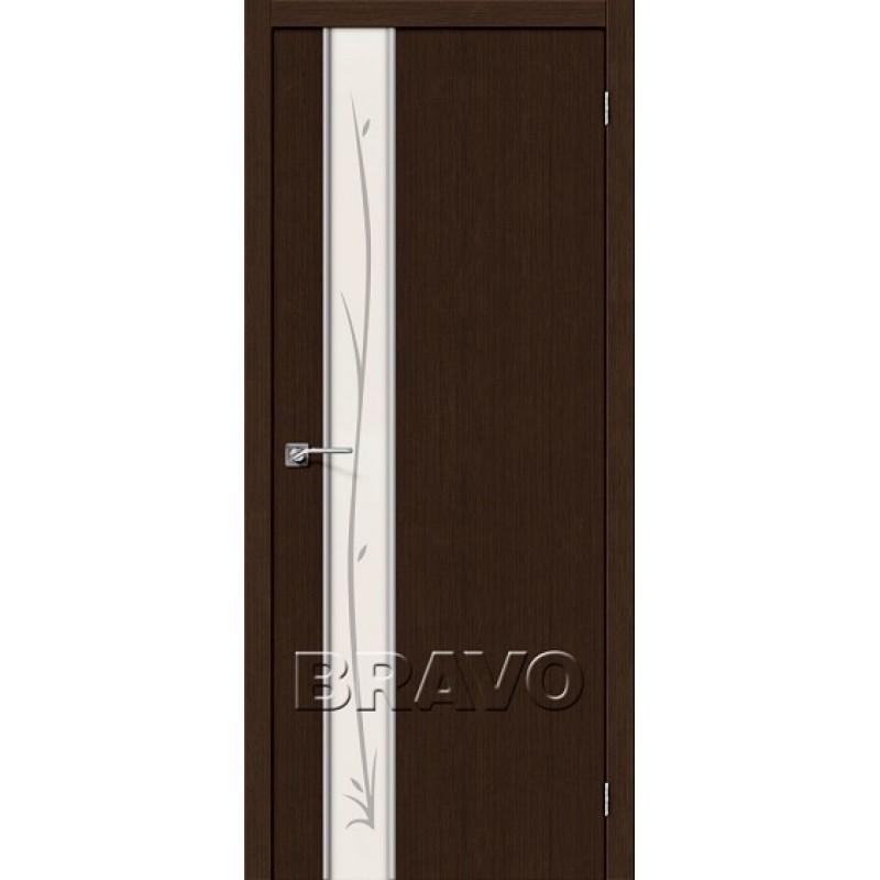 Межкомнатная Дверь Экошпон Глейс-1 Twig 3D Wenge