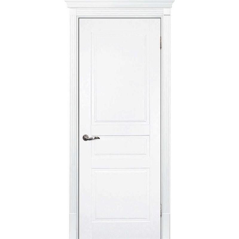 Межкомнатная дверь крашенная дверь Смальта-01 эмаль белая RAL 9003 ДГ