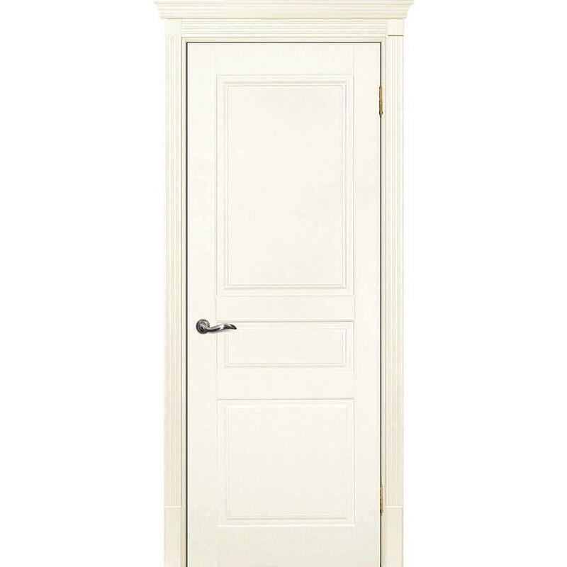 Межкомнатная дверь крашенная дверь Смальта-01 слоновая кость RAL 1013 ДГ