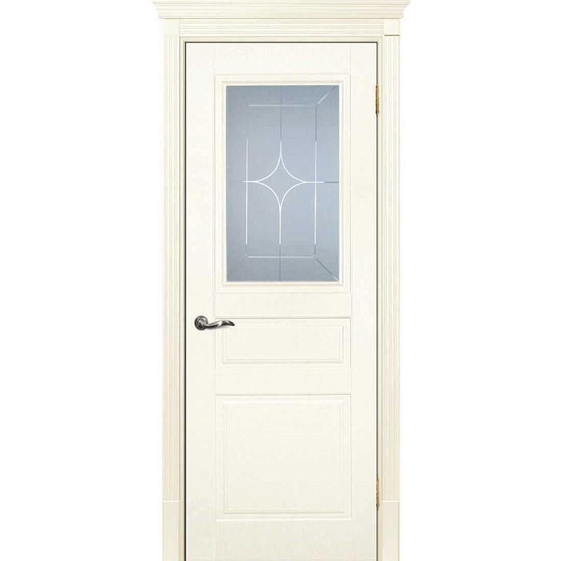 Межкомнатная дверь крашенная дверь Смальта-01 слоновая кость RAL 1013 ДО