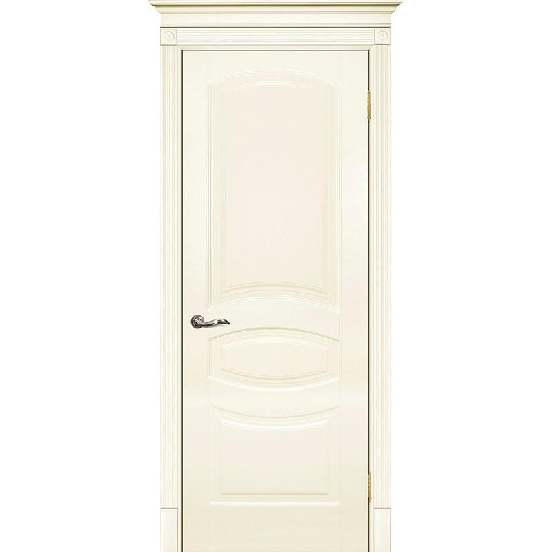 Межкомнатная дверь крашенная дверь Смальта-02 эмаль слоновая кость RAL 1013 ДГ