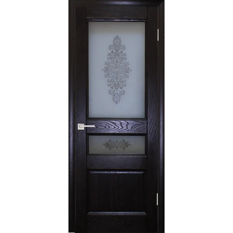 Ульяновская дверь Вайт 02 дуб патированный ДО