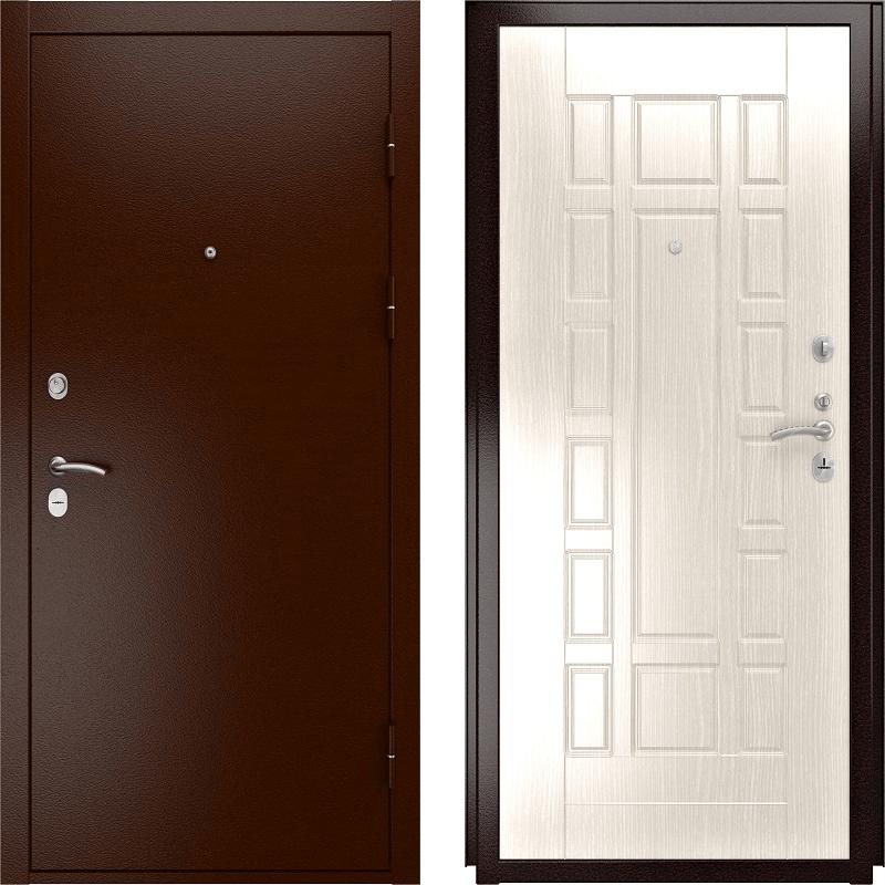 Входная дверь Luxor-3a белёный дуб 244