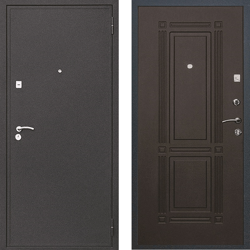 Входная дверь М-1 чёрный крокодил - венге