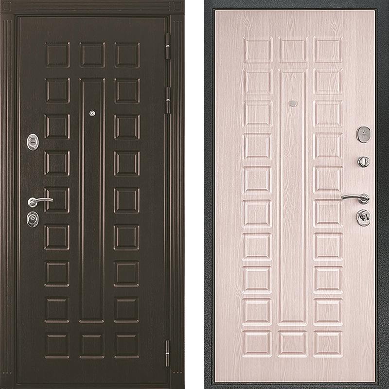 Входная дверь Триумф венге-белёный дуб